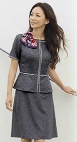 S-16430 16431 SELERY(セロリー) ニットAラインスカート(53cm丈) 9916430