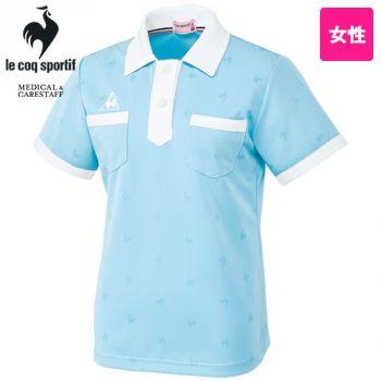 [在庫限り/返品交換不可]UZL8028 ルコック ドライニットポロシャツ (女性用)両胸ポケ付き
