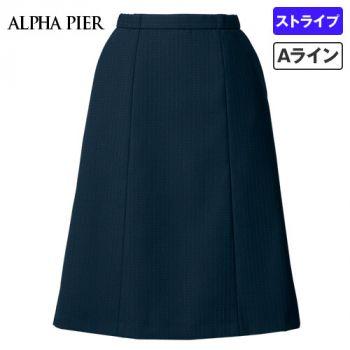 AR3882 アルファピア Aラインスカート ドットストライプ(ストレッチ) 40-AR3882