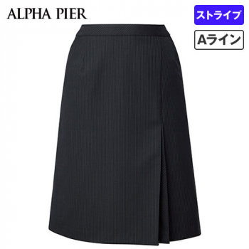 AR3852 アルファピア Aラインスカート ストライプ