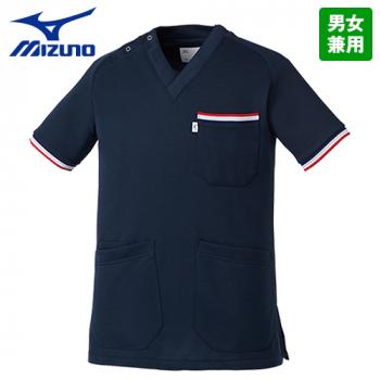 [在庫限り/返品交換不可]MZ-0110 ミズノ(mizuno) ニットスクラブ(男女兼用)