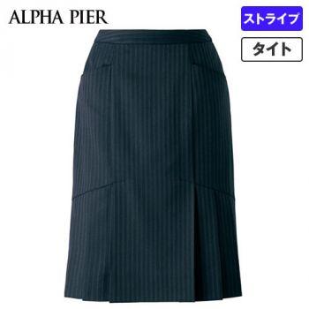 AR3847 アルファピア [通年]セミタイトスカート ストライプ[防シワ商品] 40-AR3847