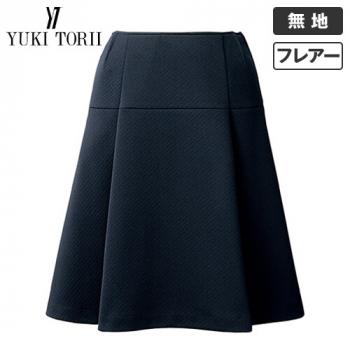YT3913 ユキトリイ フレアースカート ニット 無地 40-YT3913