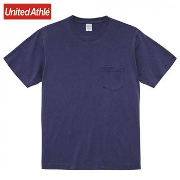 5.6オンス ピグメントダイTシャツ(ポケット付)