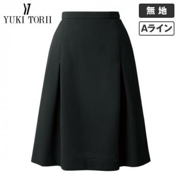 YT3717 ユキトリイ Aラインスカート(タック入り) 無地(ストレッチ/高通気)