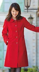 en joie(アンジョア) 9000 上質な紡毛糸で暖かく肌さわりのよいロング丈コート 無地 93-9000