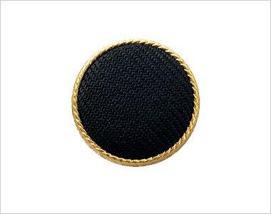 黒ベースにまわりをゴールドであしらったボタン