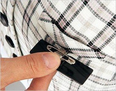 ネームプレートとペンが別にできる名札ポケットと左胸ポケット