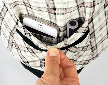 印鑑やスマホも入る高機能の右脇ポケット