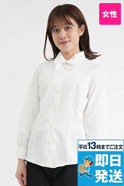 BL-6814 チトセ(アルベ) プチプライスでお得!リボン付きブラウス/長袖(女性用)