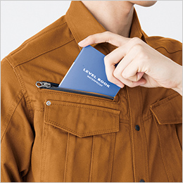 右胸 野帳収納ポケット