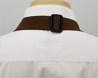 肩紐にサイズ調節可能なバックル付き