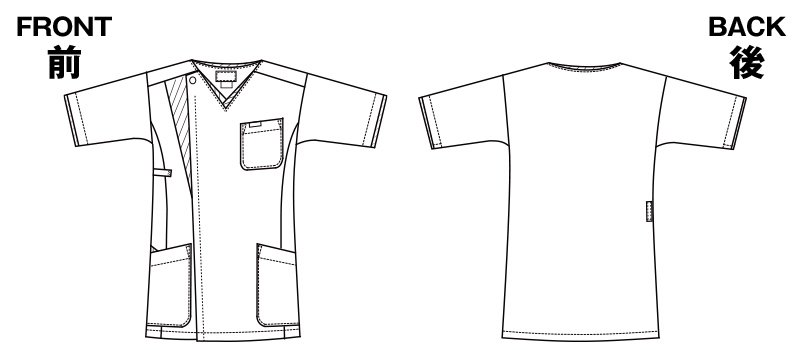7053SC FOLK(フォーク) メンズ ジップスクラブのハンガーイラスト・線画