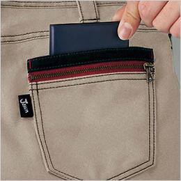 右後ろ 二重ポケット