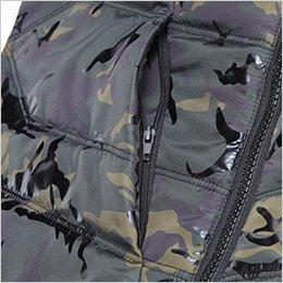 胸 ファスナーポケット