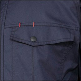 左胸 ペン差し付きポケット