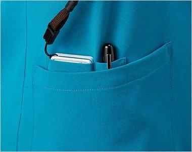 右脇ポケットはPHSポケット・ペン差しポケットで便利