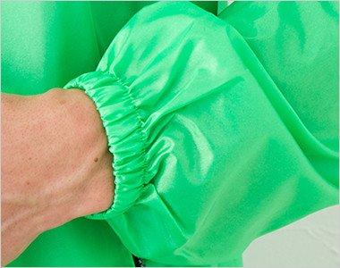 袖口ゴムなので袖まくりできます