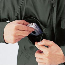 右胸 携帯電話ポケット