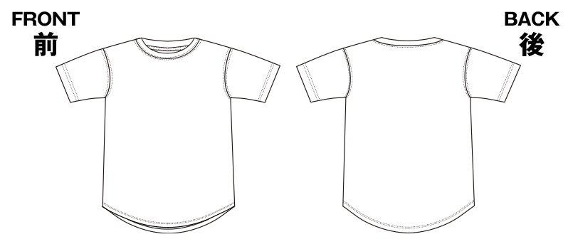 85-5602 6.5オンス ドライコットンタッチ ラウンドテールTシャツのハンガーイラスト・線画