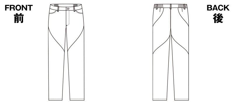 HI301 ワコール レディース スリムストレートパンツのハンガーイラスト・線画