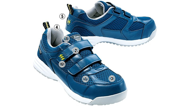 ジーベック 85112メッシュ静電安全靴のこだわりポイント