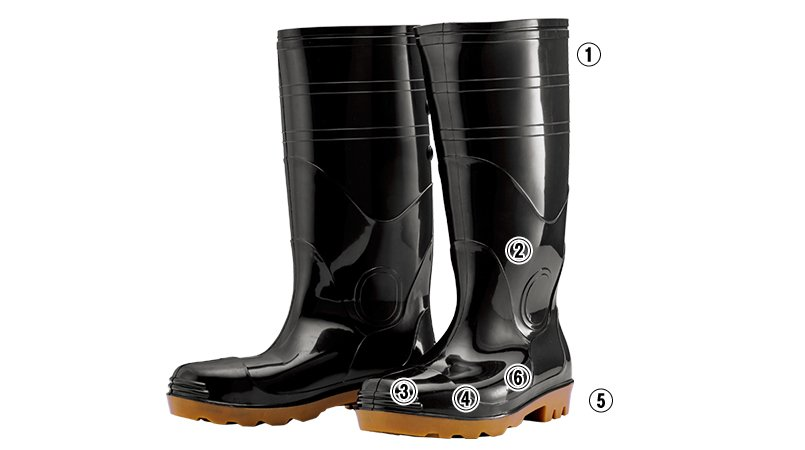 ジーベック 85707安全長靴(先芯入り)のこだわりポイント
