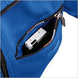 左胸 二重構造ポケット