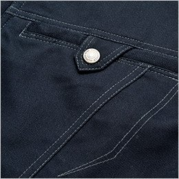 ファスナー仕様のポケット