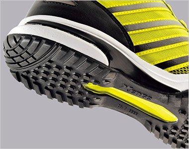 EVAのクッション性・TPUシャンクの安定性・ラバー靴底の防滑性、各々の長所を融合させた最強ソールを採用しています。