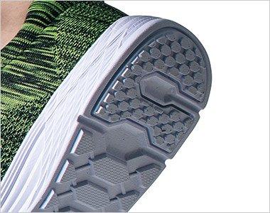 靴底カラーは全色ホワイトで統一しているので、床面等の汚れを気にする職種や屋内作業、内装業にオススメです。