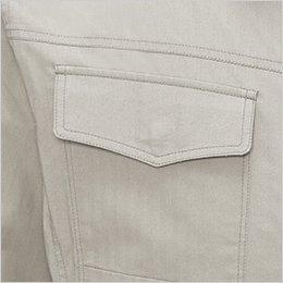 右胸 フラップ付きポケット