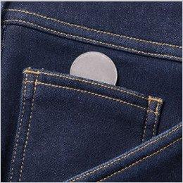 右脇ポケット内にコインポケット付き