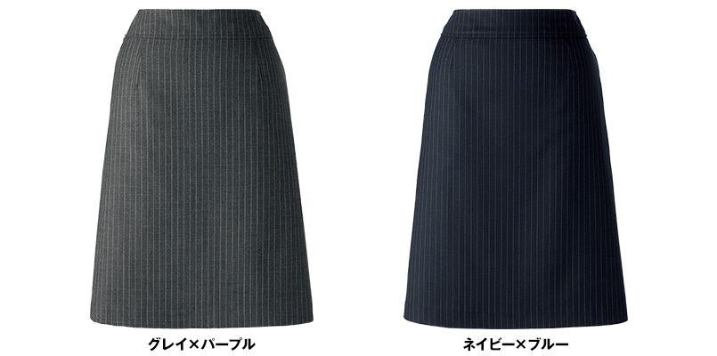 BONMAX AS2270 [通年]ベガ Aラインスカート ストライプ 色展開