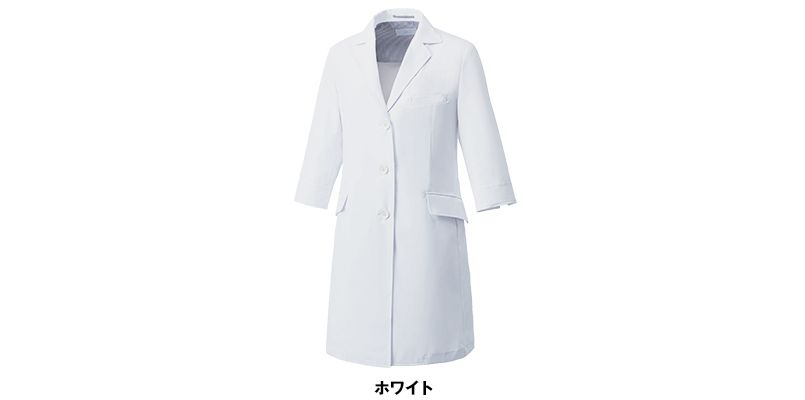 MZ-0024 ミズノ(mizuno) 七分袖ドクターコート・シングル(女性用) 色展開