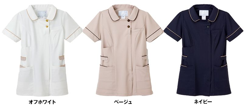 LH6242 ナガイレーベン(nagaileben) ビーズベリー チュニック半袖(女性用) 色展開