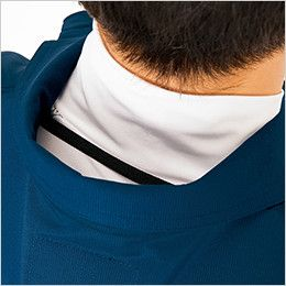 AZ2998 アイトス 空調服 半袖ブルゾン(男女兼用) ポリ100% 衿の内側にある調整紐をとめることで、首元と脇の間に生まれる空気の通り道ができ、涼しく快適な環境を作ります