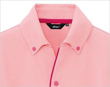 AZ7668 アイトス ペップ サイドポケット半袖ポロシャツ(男女兼用)(6.3オンス) きちんとした印象のボタンダウン