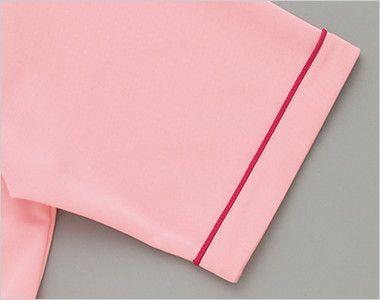 AZ7668 アイトス ペップ サイドポケット半袖ポロシャツ(男女兼用)(6.3オンス) 配色パイピングを施しました