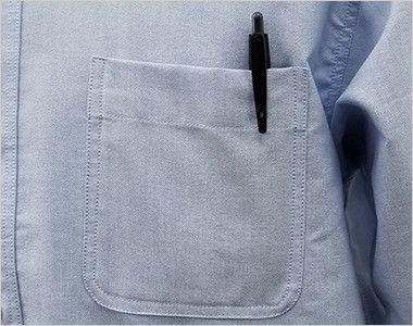 AZ7823 アイトス カナディアンクリーク 半袖T/Cオックスシャツ(男女兼用) ポケット付き