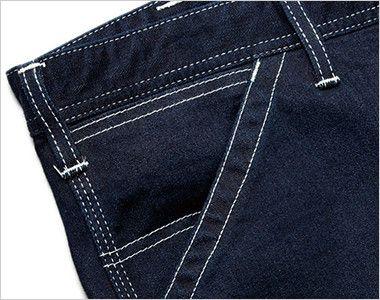 LWP63001 Lee ペインターパンツ(女性用) 出し入れしやすい斜めポケット。右側にはコインポケット付き。