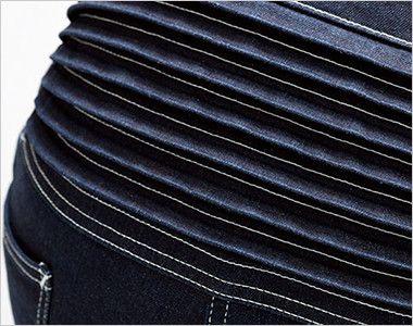 LWU39001 Lee ユニオンオール(長袖ツナギ)(男女兼用) 腰部にはハードな作業にフレキシブルにフィットする伸縮性のあるアコーディオンプリーツ