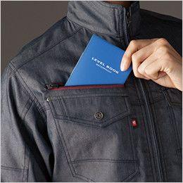 バートル 7041 [春夏用]ストレッチドビー長袖ジャケット(男女兼用)  レベルブック収納ポケット