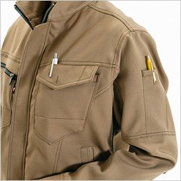 バートル 7088 [秋冬用]制電ストレッチレディースジャケット(JIS T8118適合)(女性用) ペンポケット