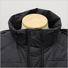 バートル 7510 リップクロス防寒ジャケット(大型フード付)(男女兼用) 寒気の侵入を防ぐ二重前立て