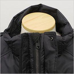 バートル 7510 リップクロス防寒ジャケット(大型フード付)(男女兼用) あごを守るチンガード付