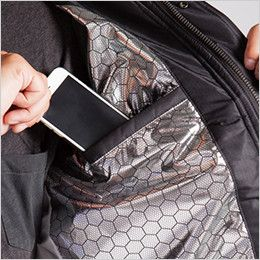 バートル 7510 リップクロス防寒ジャケット(大型フード付)(男女兼用) 内ポケット付