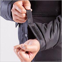 バートル 7510 リップクロス防寒ジャケット(大型フード付)(男女兼用) カフスアジャスター