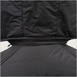 バートル 7510 リップクロス防寒ジャケット(大型フード付)(男女兼用) ファスナー付きで取り外し可能な大型フード