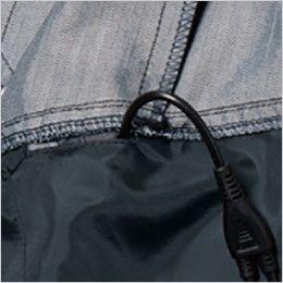バートル AC1051 エアークラフト[空調服] 制電 長袖ブルゾン(男女兼用) 右脇ポケットとつながるコードホール